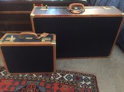 Two Handsome Escada Vintage Travel Trunks Luggage Suitcase