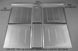 Chevy Sedan And Sedan Delivery 1941-1948 Rear Floor Pan Kit Section 1 Ems 519