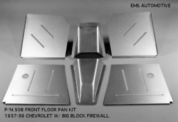 Chevy Car Front Floor Pan Kit For Big Block Firewall 1937-1939 Ems 508