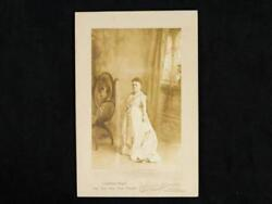 Noblespirit {3970} 1860and039s Lavinia Warren Mrs. Tom Thumb Photo And Autograph