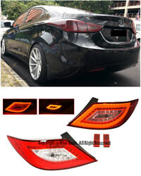 For 12-Up Hyundai Accent 4Dr LED Rear Tail Light Signal Lamps Assembly