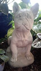 Large French Bulldog Statue - Concrete