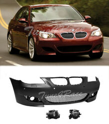 For 08-10 BMW E60 5-Series With PDC M5 Style Front Bumper + Projector Fog Lights