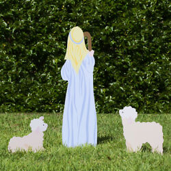 Outdoor Nativity Store Outdoor Nativity Set Add-on - Shepherd And Sheep Color