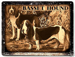 Basset Hound dog metal sign pet kids great gift vintage style wall decor art 319