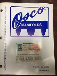 Osco Marine , Engine Manifolds Replacement Parts And Installation Manual