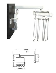 Tpc Dental Mirage Cabinet Mounted Side Delivery Unit Asepsis 3 Handpiece