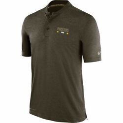 Green Bay Packers Men's Nike Olive 2017 Salute To Service Sideline Polo 3xl