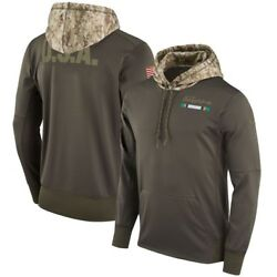 Miami Dolphins Men's Nike 2017 Salute To Service Therma-fit Po Hoodie,xl And 2xl