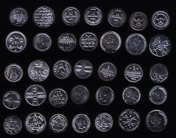Token Silver Coins The History Of Russian Money Full Set 999 Vodka Rare Gift