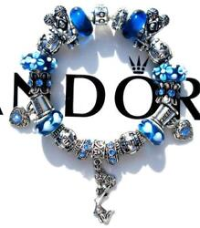 Authentic Pandora Silver Charm Bracelet With Charms Cheer Squad Ee95