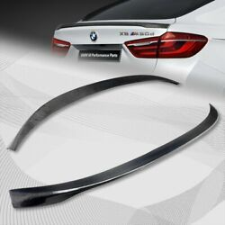 For 2015-2019 Bmw F16 X6 Performance Real Carbon Fiber Rear Trunk Spoiler Wing