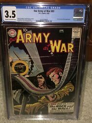 Our Army At War 83 Cgc 3.5 Dc 1959 1st Sgt. Rock Holy Grail War Book G11 329 Cm