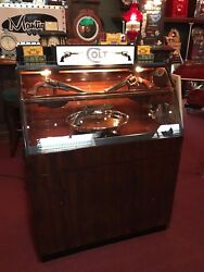 1940's Light-Up Retail Display Case With COLT Gun Theme