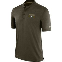 Green Bay Packers Men's Nike Nfl Olive Salute To Service Sideline Polo Shirt