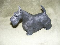 1986 B. RILEY CO. FIGURINE SCOTTIE DOG SCOTTISH TERRIER SIGNED KING