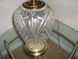 Waterford Crystal Lamps With Polished Brass Accents