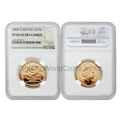 Great Britain 2004 2 Sovereign Gold Ngc Pf69 Ultra Cameo
