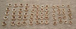 1930and039s 40and039s New Nickel Plated Interior Screw Cupped Trim Washers Car Truck