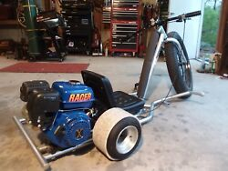 moter cycle drift trike one of kind chrome moly Fram one Hr. ride time.