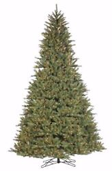 New Santas Own 9and039 Green Fairhaven Spruce Artificial Christmas Tree Clear Lights