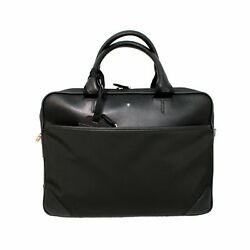 Man Woman Briefcase MONTBLANC SARTORIAL slim coach bag black leather new 116792
