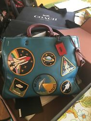 Large Coach 1941 Space Patch Rogue Bag NASA Collection