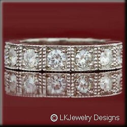 1.60 Ct Moissanite Round Forever One Ghi Eternity Wedding Antique Ring