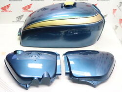 Honda Cb 750 Four K2 Fuel Tank And Side Cover Color Planet Blue Reproduction