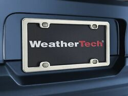 WeatherTech Titanium License Plate Frame - Solid Titanium Plate Frame - 1-Pack