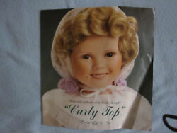 Danbury Mint Shirley Temple Curly Top 18 Porcelain Doll With Stand Nrfb