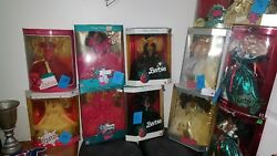 Holiday Barbie Dolls In Box 88-08 And 90-99 African American Barbies