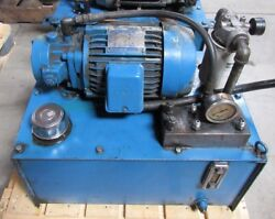 Hydraulic Power Unit Removed From Femco Lathe Wncl-35 Item A
