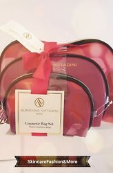 Adrienne Vittadini Clear Set of 3 Dome Shaped Cosmetic Bag Set