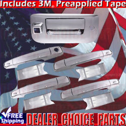 2007-2013 Silverado Sierra Chrome Door Handle Covers +tailgate Withcamerahole 4d
