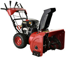 30 In. 302cc Two-stage Electric And Recoil Start Gas Snow Blower Snow Thrower New