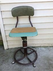 VTG WESTERN ELECTRIC TELEPHONE OPERATOR STOOL CHAIR SWITCHBOARD KS 15784