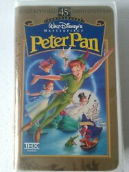 Peter Pan Vhs, 1998, 45th Anniversary Limited Edition Used