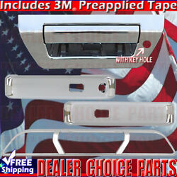 2015-2018 Ford F150 Chrome Door Handle Covers+tailgate+brakelight Smartkey/nocam
