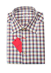New Kiton Checked Flannel Shirt Size 39 / 15,5 U.s.