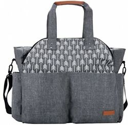 Large Diaper Bag Tote Satchel Messenger for Mom and Girls Baby Shower