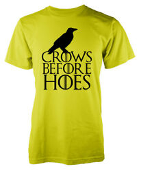 Game Of Thrones Inspired Crows Before Hoes Jon Snow Nightswatch Kids T-shirt