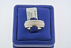 Diana 18k White Gold Comfort Fit Men's Wedding Band, 12.6gm, Size 10, S100842