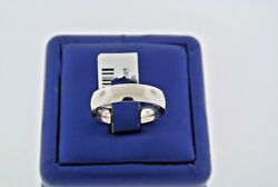 14k White Gold Comfort Fit Men's Wedding Band, 5.1gm, Size 10, S102717