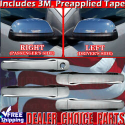 11-15 Lincoln Mkx 11-14 Edge Chrome Door Handle Covers W/o Smart Keyhole+mirrors