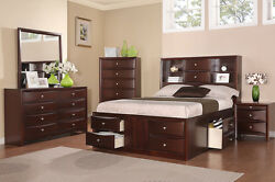 QUEEN Platform Modern 7 Pcs Bedroom Set with Chest Optional 12
