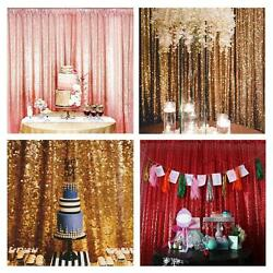4FTX6FT Sequin Curtain Wedding Photobooth Backdrop Party Photography Background