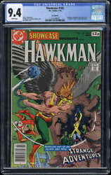 Showcase 102 Cgc 9.4 White Pages Uk Pence Copy Hawkman 2nd Bronze Age Tryout