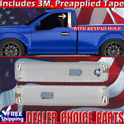 2015-18 Ford F150 Standard Cab Chrome Door Handle Covers W/sk+pillar Posts W/kp