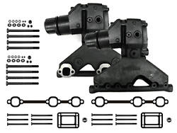 Volvo Penta Exhaust Manifold Package With Risers, Gaskets, Bolts Omc 4.3l V6 4.3